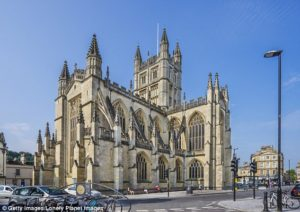 The 'amazing' discovery was made at Bath Abbey in Somerset – which was initially founded in the 10th century – as part of vital repair work to the Abbey's collapsing floor