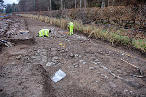 Archaeological excavation of the medieval remains