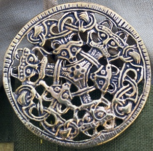 Viking women often wore ornate brooches as part of their everyday clothing; scores of the brooches have been found in England.