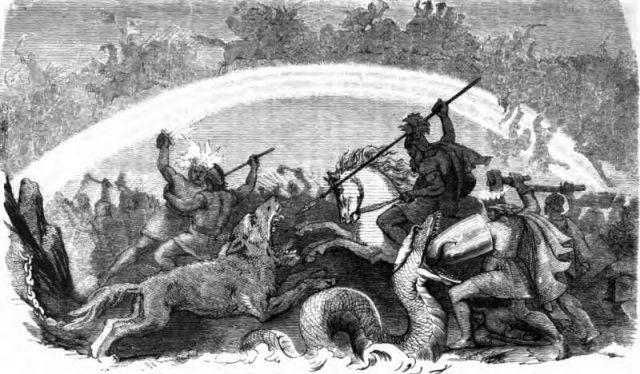 Battle of the Doomed Gods by Friedrich Wilhelm Heine, 1882.