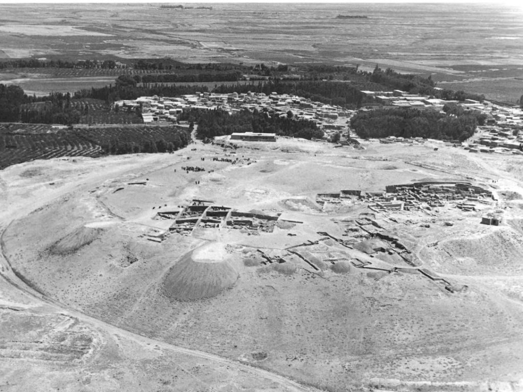 An aerial view of the ancient site of Hasanlu Courtesy of the Penn Museum