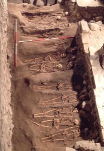 The remains of more than 2,000 people, including 1,000 entire skeletons, were found during archaeological excacations of the church. Historians said most of the bodies were likely buried before the 1560s.