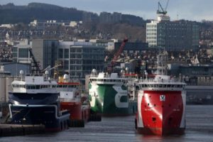 Aberdeen remains a busy port today
