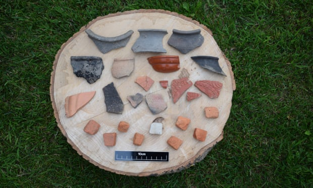 Hundreds of Roman pottery sherds have been found at the site.