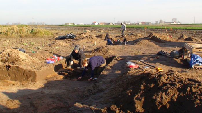 Excavation in the area of Gąski and Wierzbiczany.