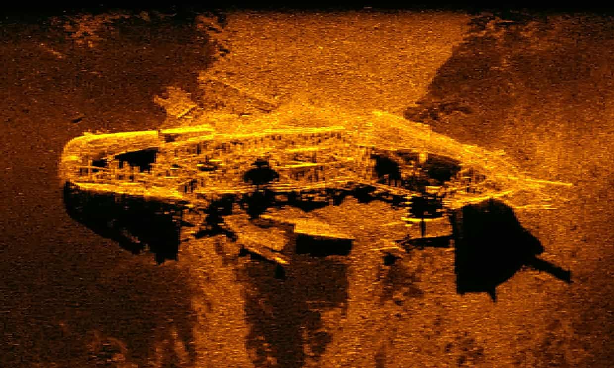 The wreckages were found more than 3km below the ocean's surface.