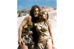 John Richardson and Raquel Welch in the film 'One Million Years B.C.', 1966.