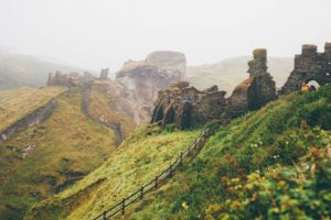 Tintagel Castle, Cornwall – a medieval fortification that is alleged to have been the birthplace of King Arthur.