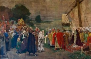 Otto I and his wife Edith arrive near Magdeburg