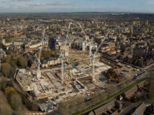 Oxford's medieval secrets: a panorama of the development site and excavations