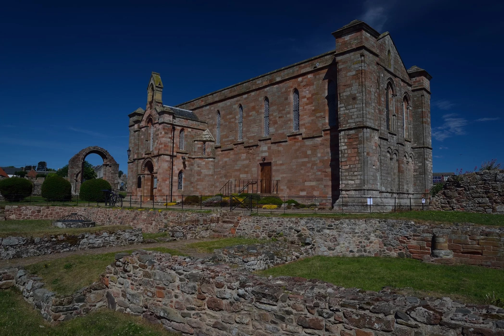 Coldingham Priory still stands today.