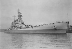 USS Washington anchored at the Puget Sound Navy Yard.