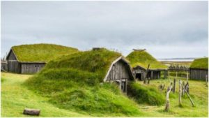Replica of a typical Viking village