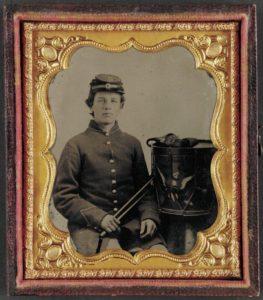 Unidentified young drummer boy in Union uniform.