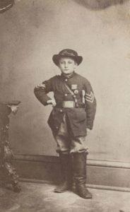 Child soldier John Clem, c. 1863.