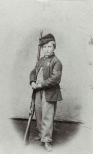 John Clem with gun.