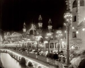Coney Island, c.1903. To the right, you can see the infant incubators, while to the left is Under the Sea.