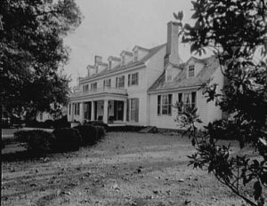 Sherwood Forest Plantation in Charles City County, Virginia, in which she and John Tyler lived after leaving the White House.