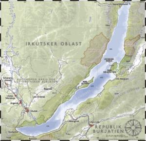 Map of Baikal Lake