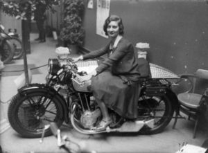 Sally Halterman riding in the early 40s.
