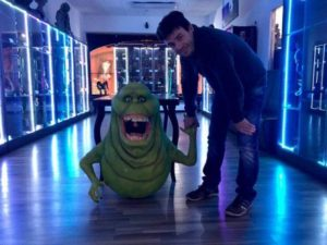 A puppet of Slimer at Film Legends Museum in Poděbrady Film Legends Museum.
