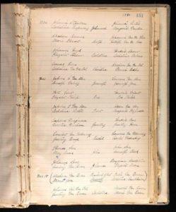 Record of the Kinderhook Dutch Reformed Church; Maarten Van Buren baptism December 15, 1782