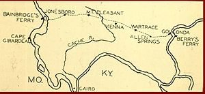 A Trail of Tears map of Southern Illinois from the USDA