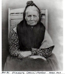 """Elizabeth """"Betsy"""" Brown Stephens (1903), a Cherokee Indian who walked the Trail of Tears in 1838"""