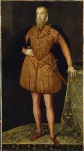 Portrait sent to Queen Elizabeth I of England, to further the negotiations regarding the marriage. By Steven van der Meulen 1561.