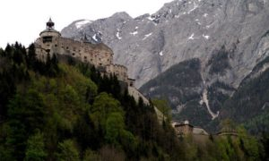 The castle is around 45 minutes by train from Salzburg.