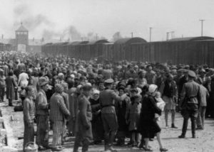 """Selection"" of Hungarian Jews on the ramp at Auschwitz-II (Birkenau), May/June 1944"