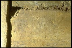 Viking graffiti, Maeshowe, Orkney Islands, Scotland.