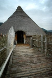 Replica crannóg on Loch Tay.