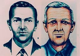 FBI sketches of Cooper, with age progression