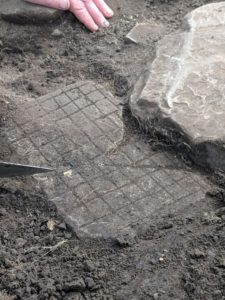 The gaming board is unearthed at Vindolanda