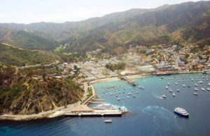 A view of Avalon on Catalina Island.