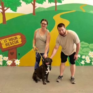 Moose and his new family.