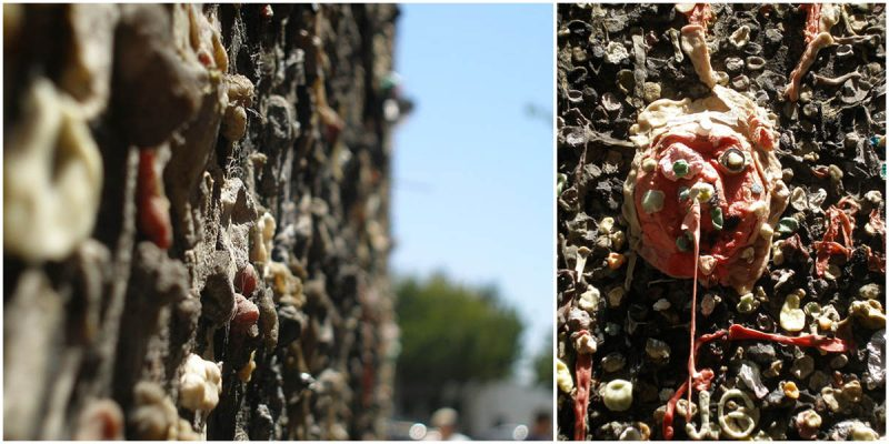 """The World's Most Bizarre Tourist Attractions: """"Bubblegum Alley"""" in San Luis Obispo, California"""