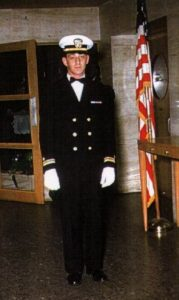 Harvey Milk in Navy Blue uniform for his brother's wedding in 1954.