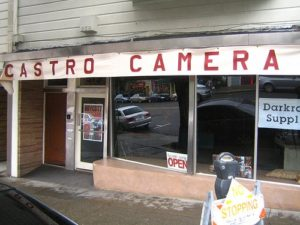"Castro Camera storefront, as recreated for the 2008 film ""Milk"" starring Sean Penn as Harvey Milk."