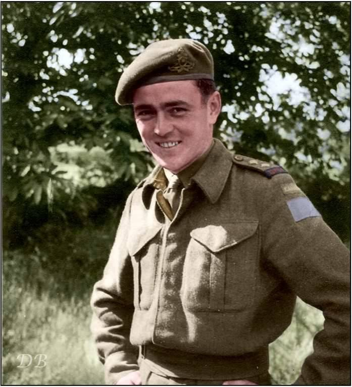 """Lt. James Montgomery """"Jimmy"""" Doohan, 14th Field Artillery Regiment of the 3rd Canadian Infantry Division."""