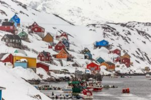 Kangamiut village in the middle of nowhere, Greenland