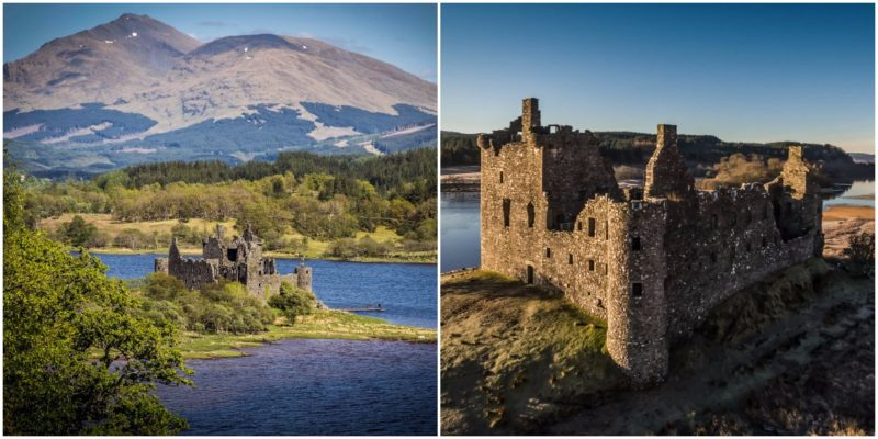 The beautiful, abandoned ruins of Kilchurn Castle in Scotland