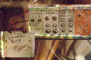 Counterculture novelist Ken Kesey had an immense passion for music, creativity, and LSD. He enjoyed having the latest, most sophisticated audio equipment, and owned numerous Buchla synthesizers. Seen here is a model specifically designed for Kesey and his band of Merry Pranksters.