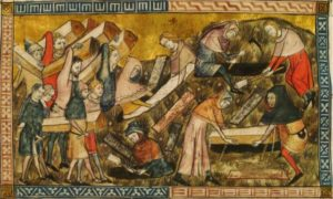Burying plague victims in the Middle Ages