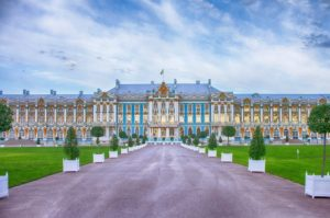 Catherine Palace at Tsarskoye Selo.
