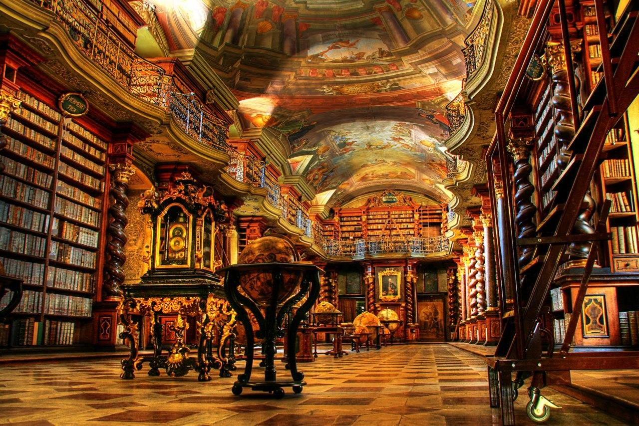 Clementinum in Prague is one of the world's most beautiful libraries