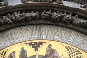Detail view of the Prague Astronomical Clock.