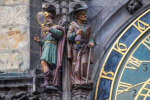 Statues on Prague Astronomical Clock