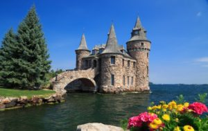 Boldt Castle is a major landmark and tourist attraction in the Thousand Islands region of the U.S. state of New York. It is located on Heart Island in the Saint Lawrence River. Heart Island is part of the Town of Alexandria, in Jefferson County.